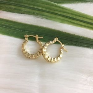 14K Gold Filled Round Hoop Earrings Small Designed